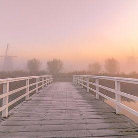 Zonsopgang Kinderdijk van AdV Photography
