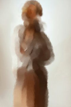 Abstract portret (gezien bij vtwonen) van Carla Van Iersel