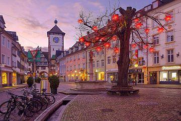 Freiburg mit Weihnachtsdekoration von Patrick Lohmüller