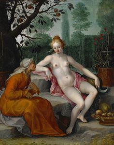Vertumnus and Pomona, Abraham Bloemaert