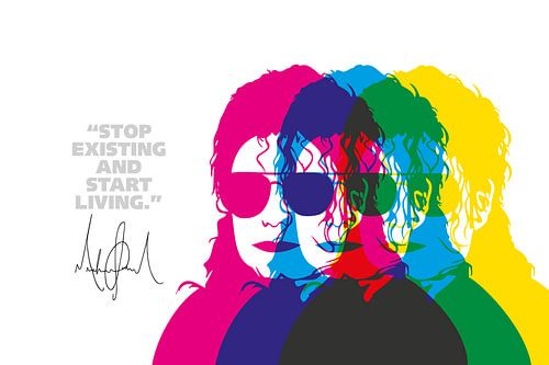 Michael Jackson Quote van Harry Hadders
