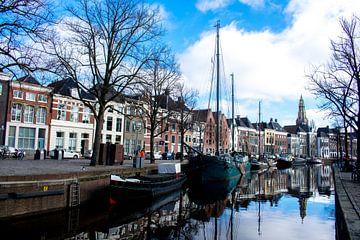 Hoge der A in binnenstad van Groningen van Eugenlens