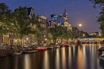 Full moon Amsterdam van Dennisart Fotografie