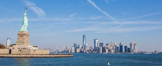 New York, Manhattan Skyline van Maarten Egas Reparaz