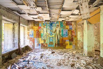 Muurschildering. van Roman Robroek