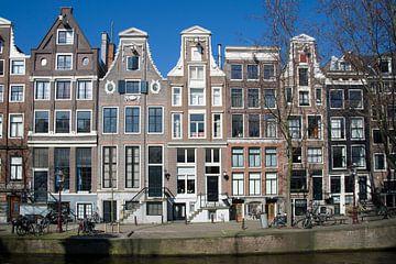 Grachtenpanden in Amsterdam van Barbara Brolsma