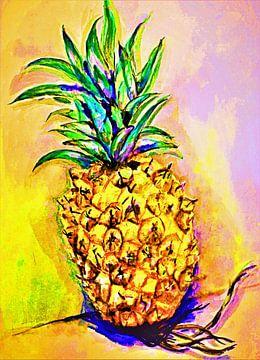 Popart Ananas. von Ineke de Rijk