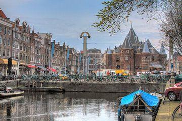 Amsterdam, Kloveniersburgwal, Waag, Nieuwmarkt van Tony Unitly