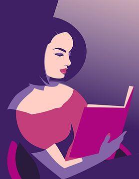 Lesende Dame von Eduard Broekhuijsen
