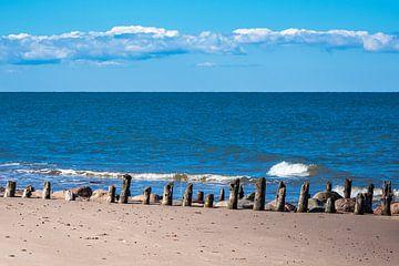 Buhnen an der Küste der Ostsee in Kühlungsborn von Rico Ködder