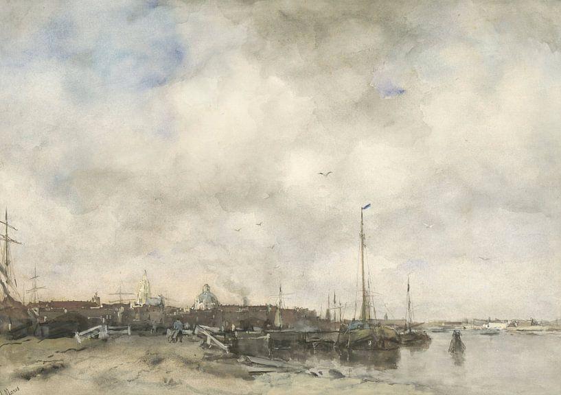 Blick auf eine Stadt, Jacob Maris von Meesterlijcke Meesters