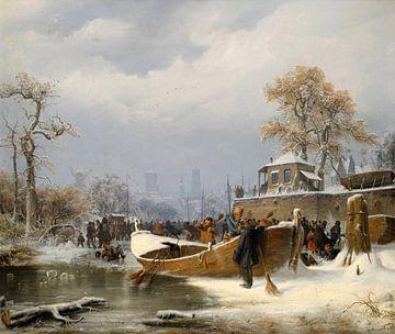 Andreas Achenbach.Winterlandschaft