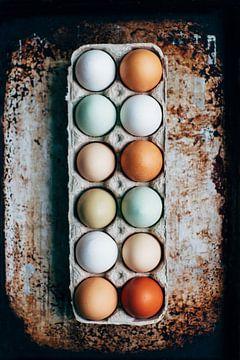 12 Eier, ein Dutzend von Origami Art
