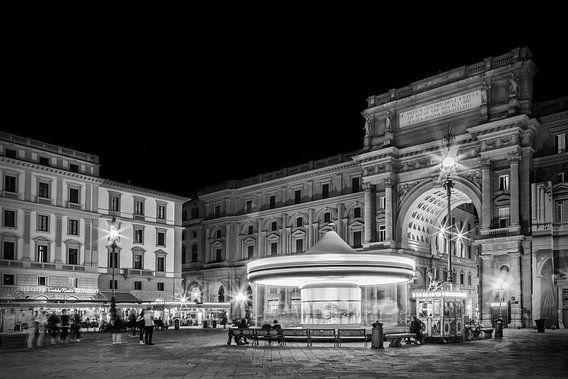 FLORENCE Piazza della Repubblica in the evening van Melanie Viola