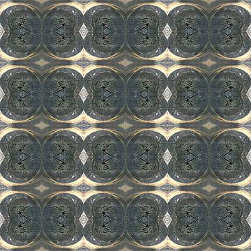 Patroon met een detailopname van een omgehakte boom van Ton Kuijpers