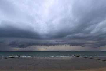 onweer boven zee von Johan Töpke