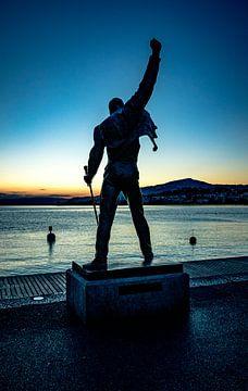 Freddie  Mercury Queen Montreux Zwitserland van Evelien van der Horst
