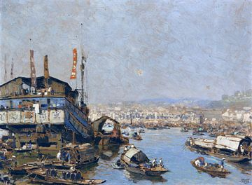 Haven van Singapore, ERICH KIPS, ca. 1928 van Atelier Liesjes