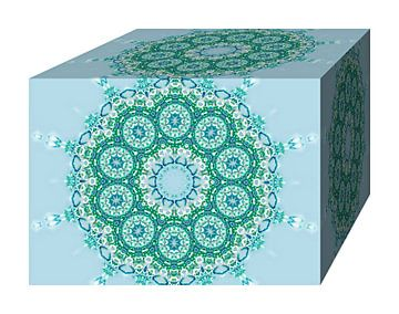 Blooming Block (Aqua) sur Caroline Lichthart