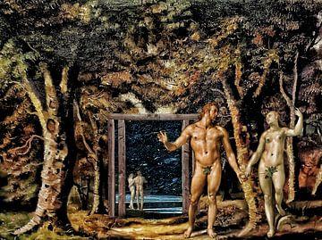 Terug naar het paradijs (Adam en Eva) van Ruben van Gogh