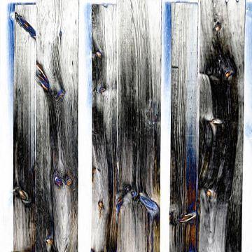 Abstract houten deur van Maurice Dawson