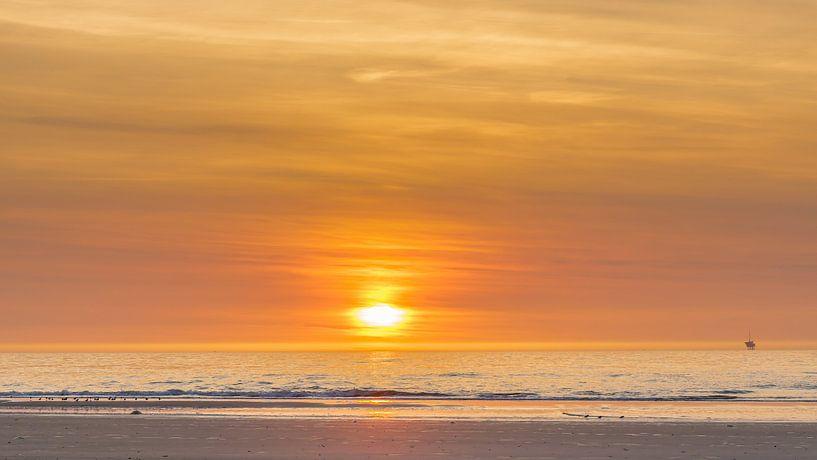 Sonnenuntergang auf Vlieland sur Joop Gerretse
