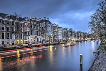 Nieuwe Herengracht bij avond