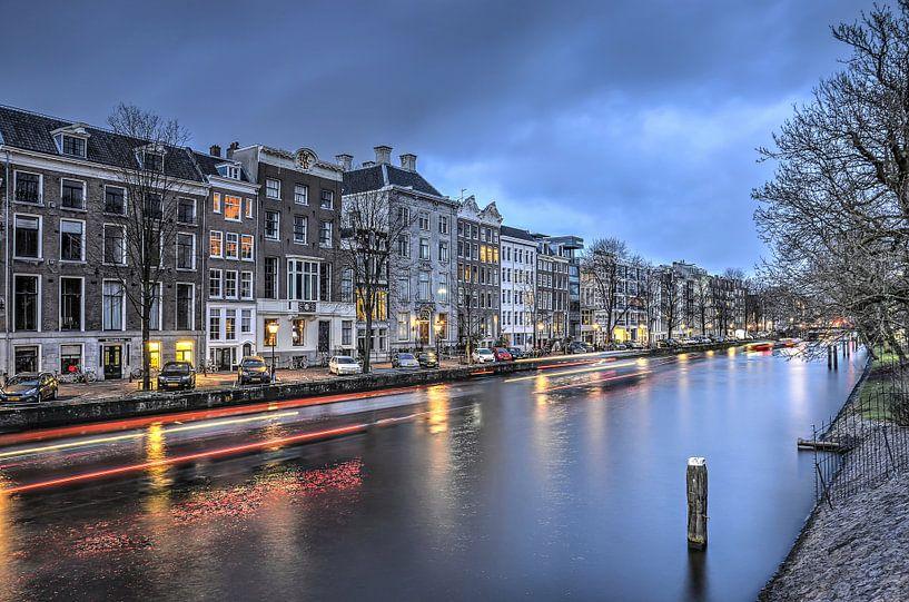 Nieuwe Herengracht bij avond van Frans Blok