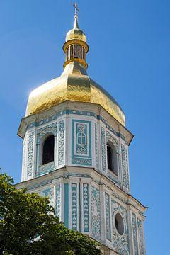 Klooster toren Sint-Michielsklooster in Kyiv van Caught By Light