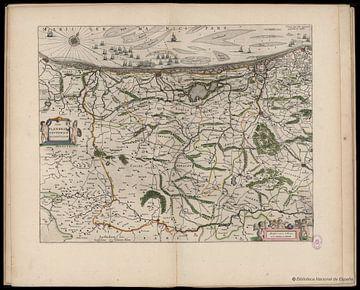 West Vlaanderen en Belgische kust, plattegrond Joan Blaeu van Atelier Liesjes