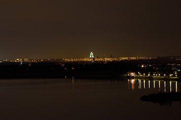 Völkerschlachtdenkmal Skyline bei Nacht - Leipzig von Marcel Ethner
