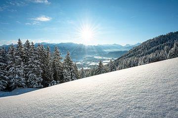 Ongerepte wintersfeer in de Allgäu van Leo Schindzielorz