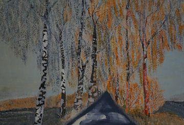 Allee im Winter van Babetts Bildergalerie
