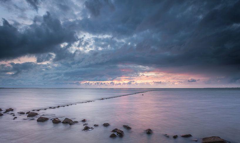 Waddenzee tijdens vloed van Martijn van Dellen