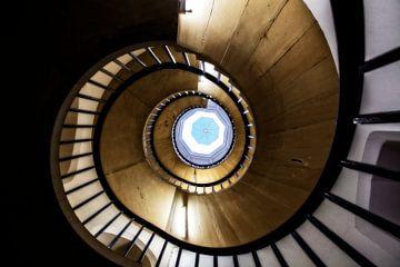 Stairway in St John's College von Ab Wubben