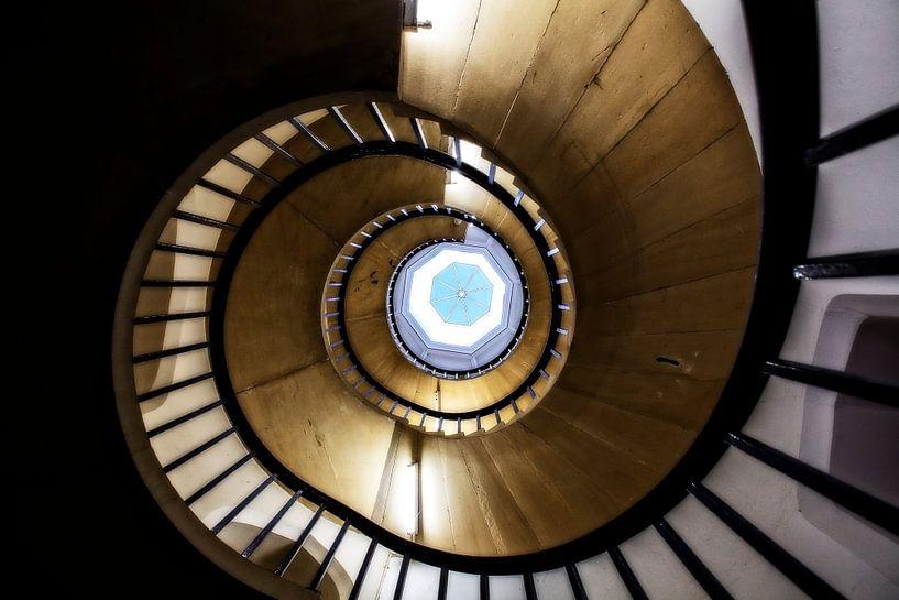 Stairway in St John's College van Ab Wubben