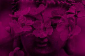 Buddha with flowers