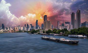 Bangkok aan de Chao Praya rivier van Bernd Hartner