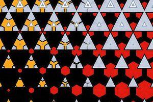 abstrakt-geometrischer Hintergrund mit grafischen Elementen