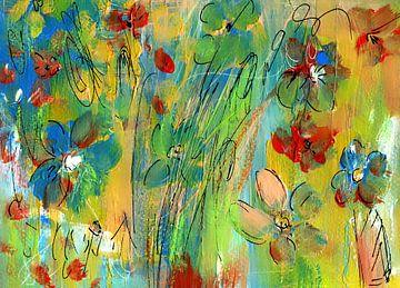 Blumenliebe - abstrakt von Claudia Gründler