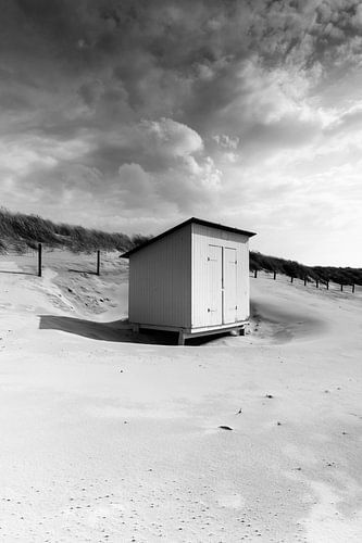 houten huisje op het strand