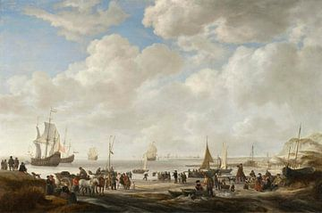 Blick auf einen Strand, Simon de Vlieger