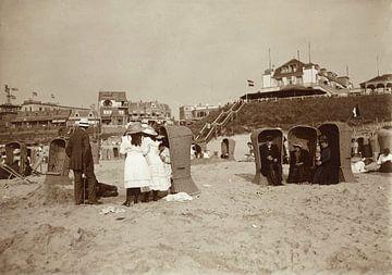 Faulenzen am Strand in Zandvoort, Knackstedt & Näther, 1900 - 1905