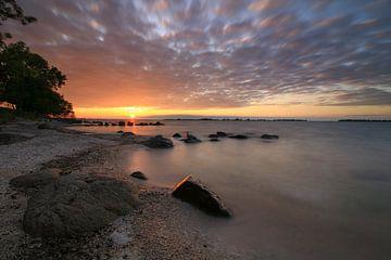 Sonnenuntergang über dem IJsselmeer von FotoBob