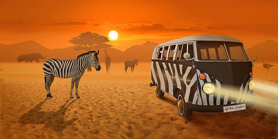 Strip ontmoeting in Afrika