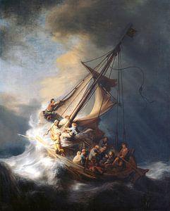 Christus in de storm op het meer van Galilea, Rembrandt van Rijn
