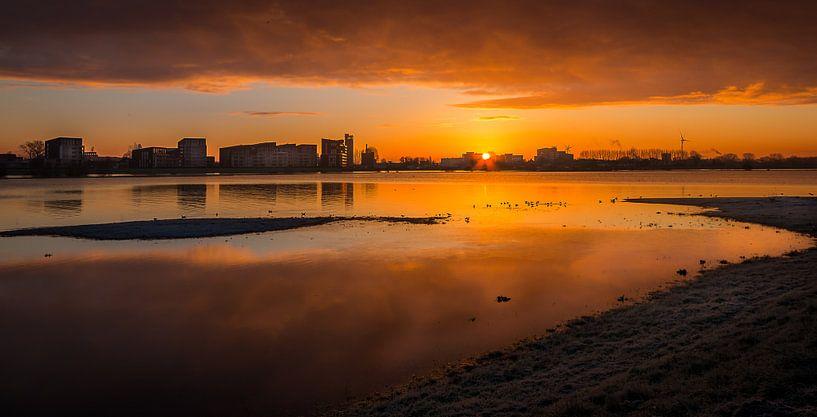 Zonsopkomst Deventer aan de IJssel van Patrick Rodink