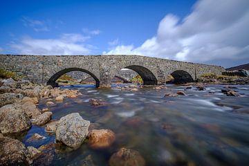 De oude brug bij Sligachan von Koos de Wit