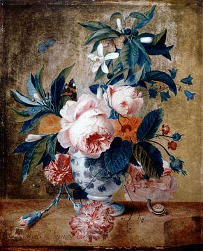 Eine Delfter Vase mit Blumen, Michiel van Huysum