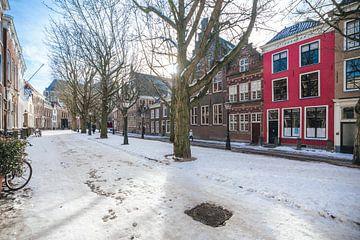 Rode huis, Hooglandse Kerkgracht, Leiden.
